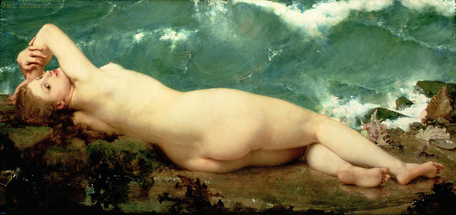 Nude Painting - The Pearl And The Wave by Paul Baudry