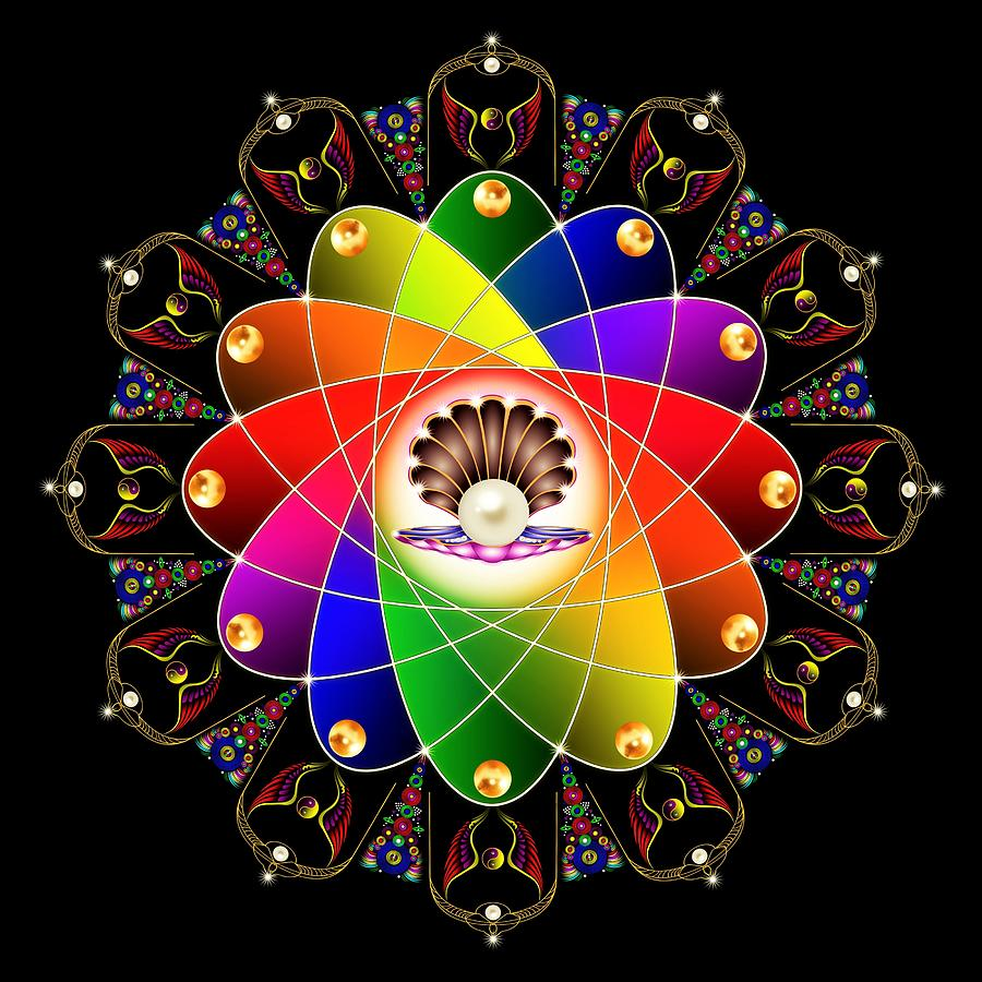 Sacred Geometry Digital Art - The Pearl by The Awakening Art