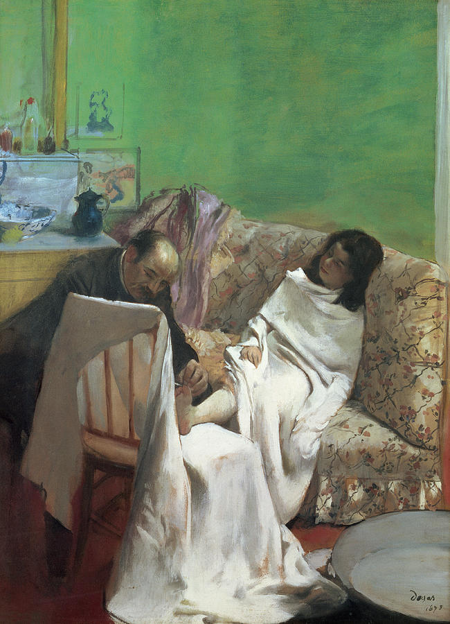 Foot Painting - The Pedicure by Edgar Degas