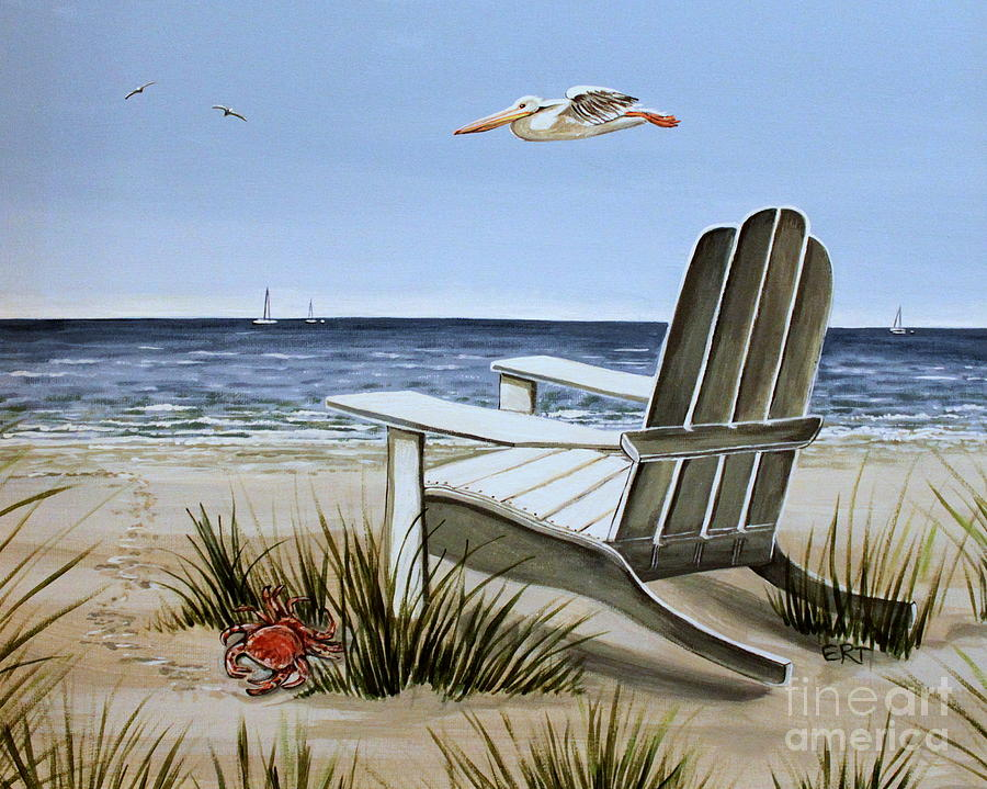 Landscape Painting - The Pelican by Elizabeth Robinette Tyndall