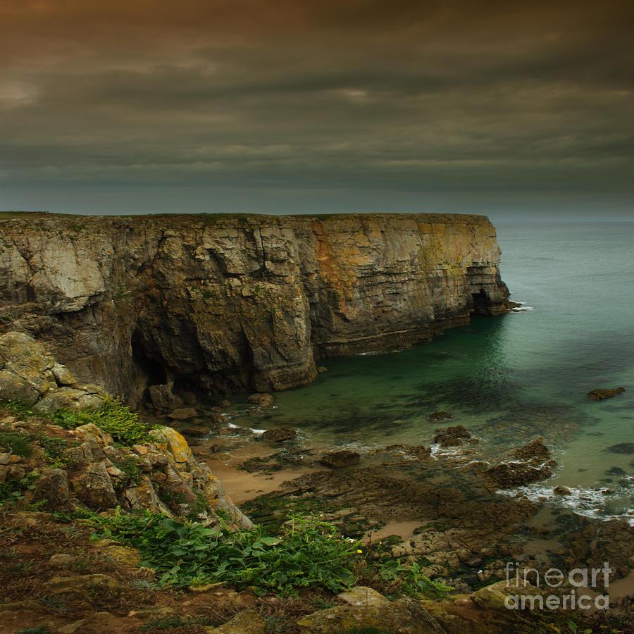 Pembrokeshire Photograph - The Pembrokeshire Cliffs by Angel Ciesniarska