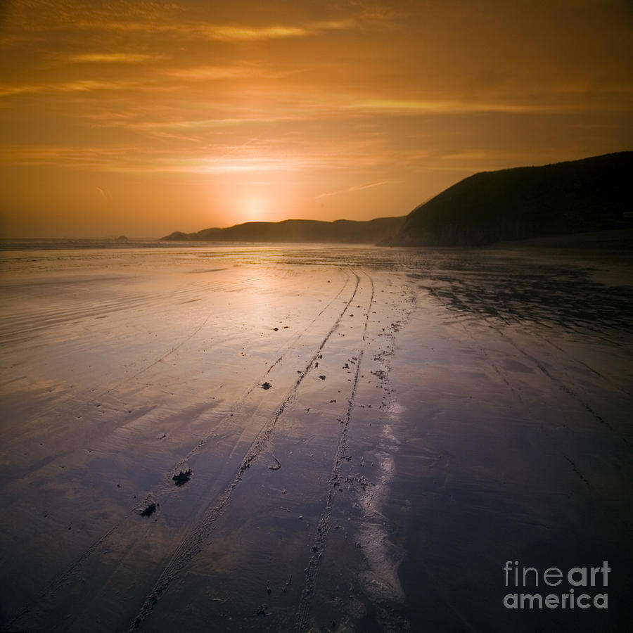 Sunset Photograph - The Pembrokeshire Sunset by Angel  Tarantella