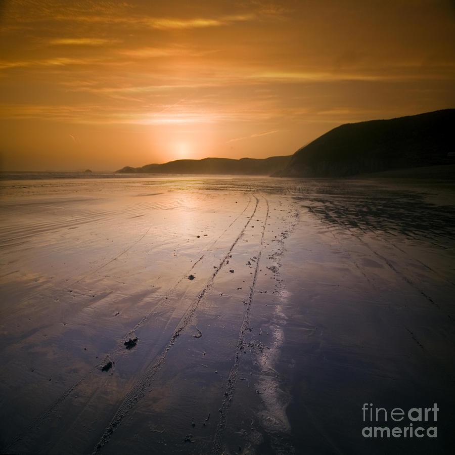 Sunset Photograph - The Pembrokeshire Sunset by Angel Ciesniarska