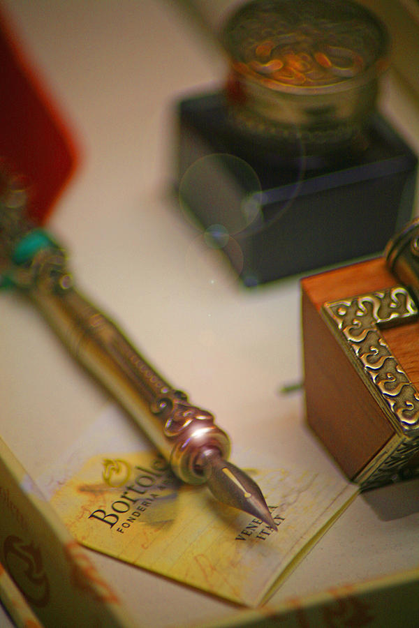 Quill Photograph - The Pen is Mightier than the Sword by Ave Guevara