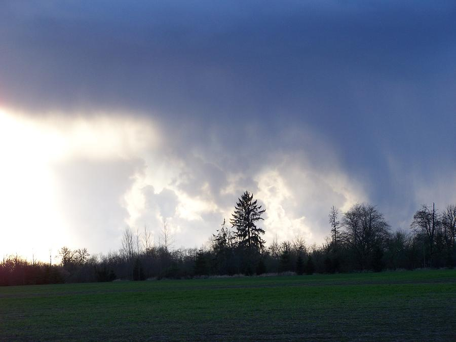 Digital Photography Photograph - The Pending Storm by Laurie Kidd