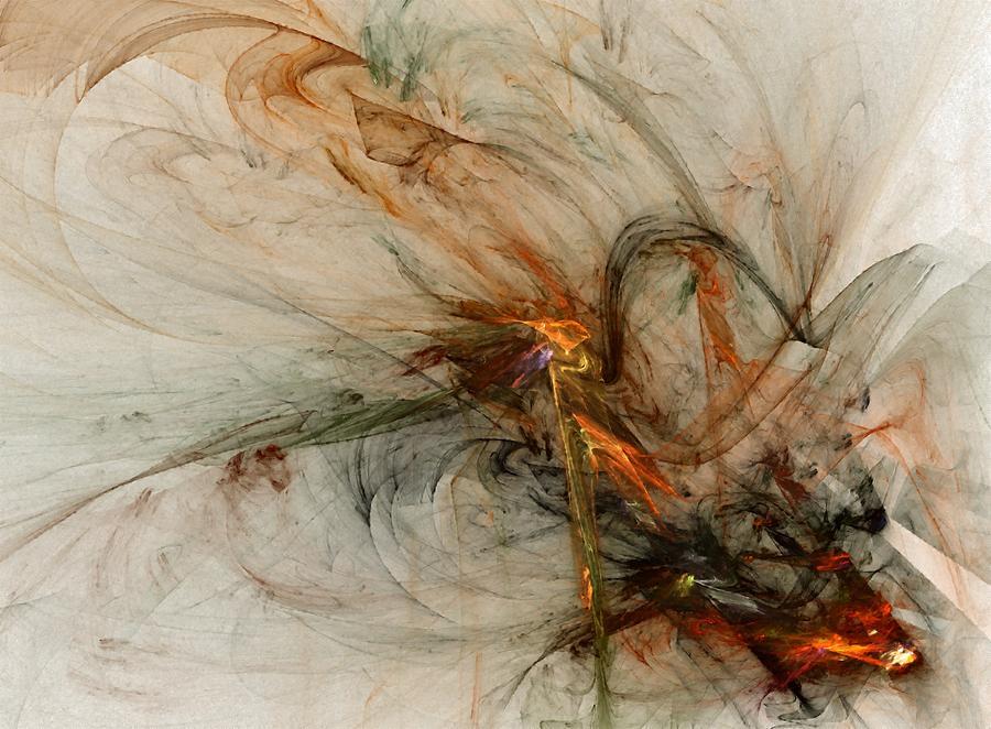 Nonrepresentational Digital Art - The Penitent Man - Fractal Art by NirvanaBlues