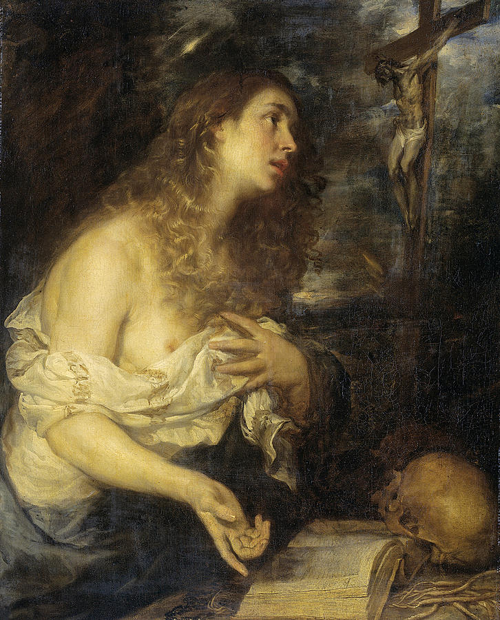 Mateo Cerezo Painting - The Penitent Mary Magdalene by Mateo Cerezo