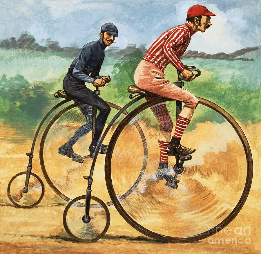 A Painting - The Penny Farthing by Peter Jackson