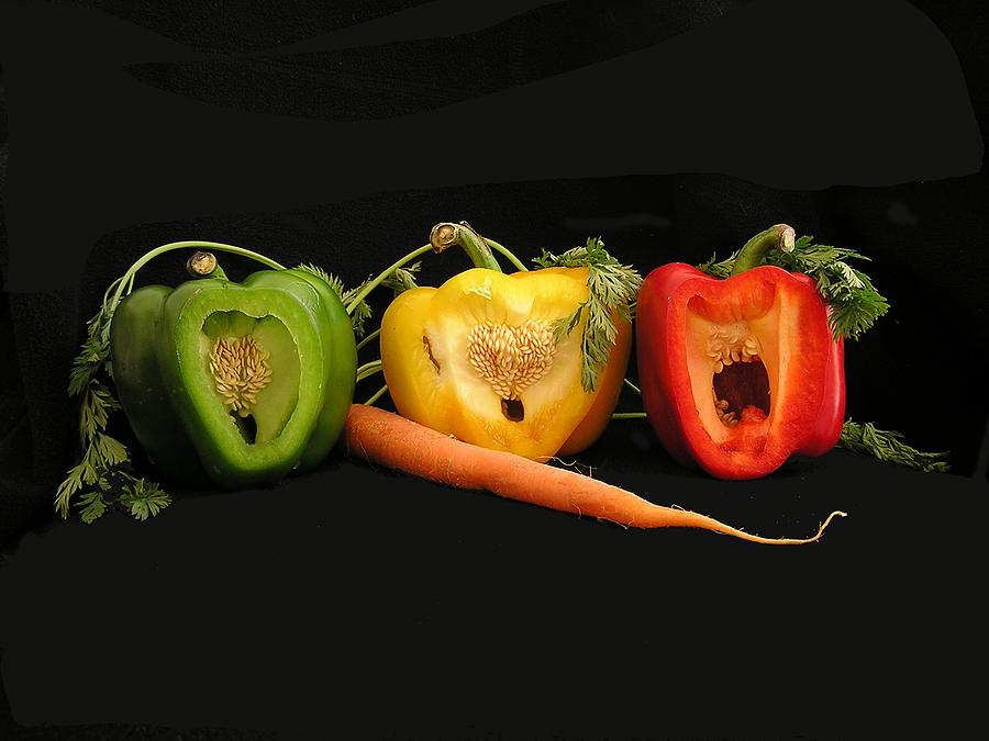 Pepper Photograph - The Pepper Trio by Carol Milisen