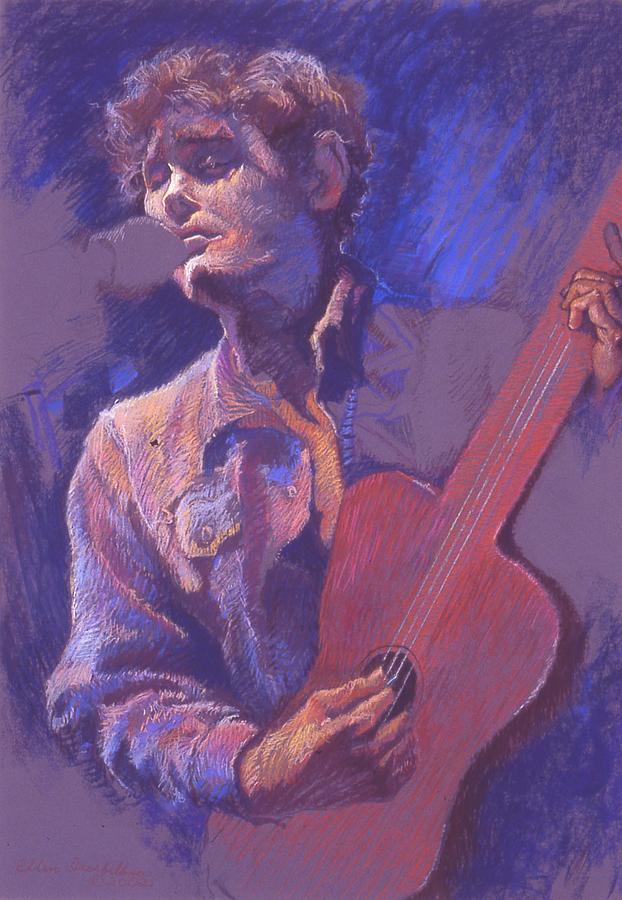 Pastel Drawing - The Performer by Ellen Dreibelbis