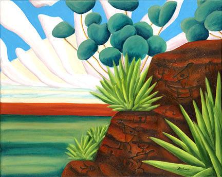 Landscape Painting - The Petroglyphs by Lynn Soehner
