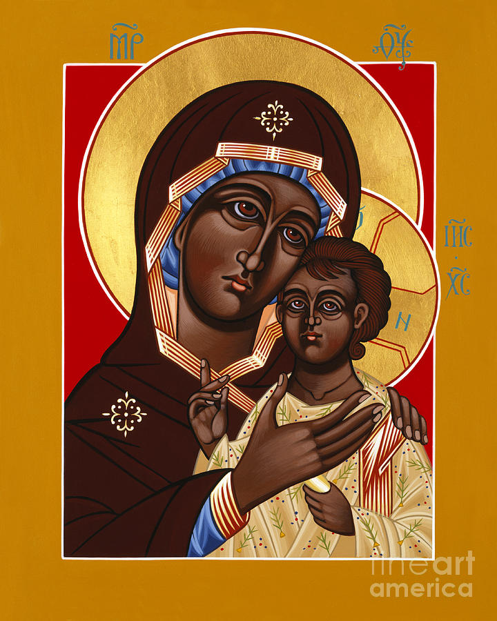 Mother Of God Painting - The Petrovskya Icon Of The Mother Of God 128 by William Hart McNichols