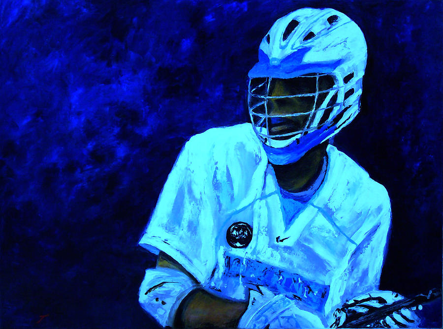 Lacrosse Painting - The Phantom by Kenneth DelGatto
