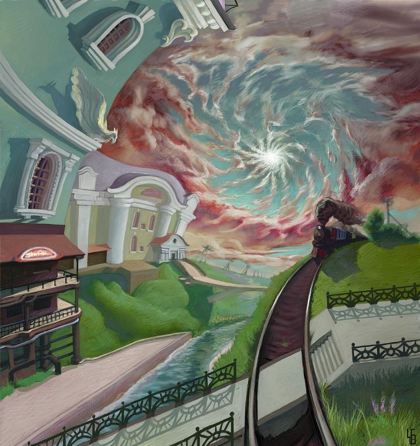The Bridge Digital Art - The phenomenon on the old   by Alexander Chekaljuk