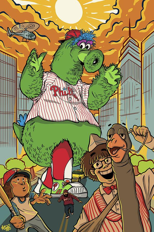 Philly Drawing - The Pherocious Phanatic by Miggs The Artist
