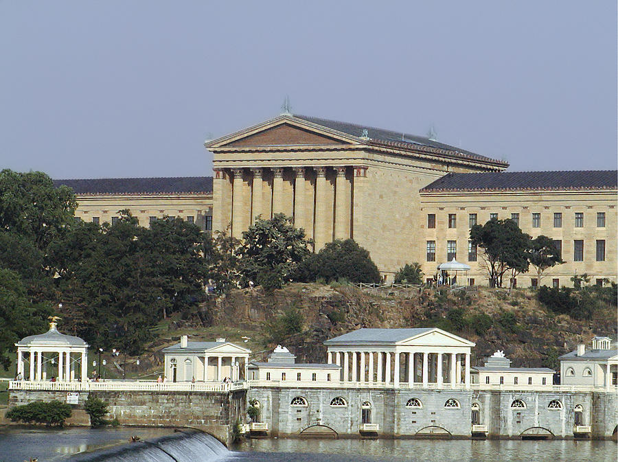 Philly Photograph - The Philly Art Museum And Waterworks by Bill Cannon