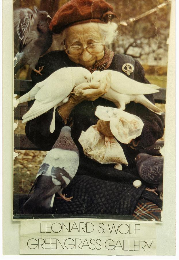 The Photo Of My Bird Lady By L S Wolf Pyrography by Benito Alonso