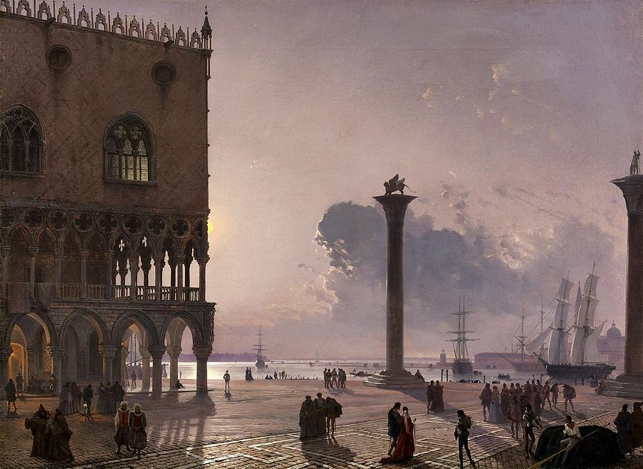 Marco Friedrich the piazzetta di san marco painting by friedrich nerly