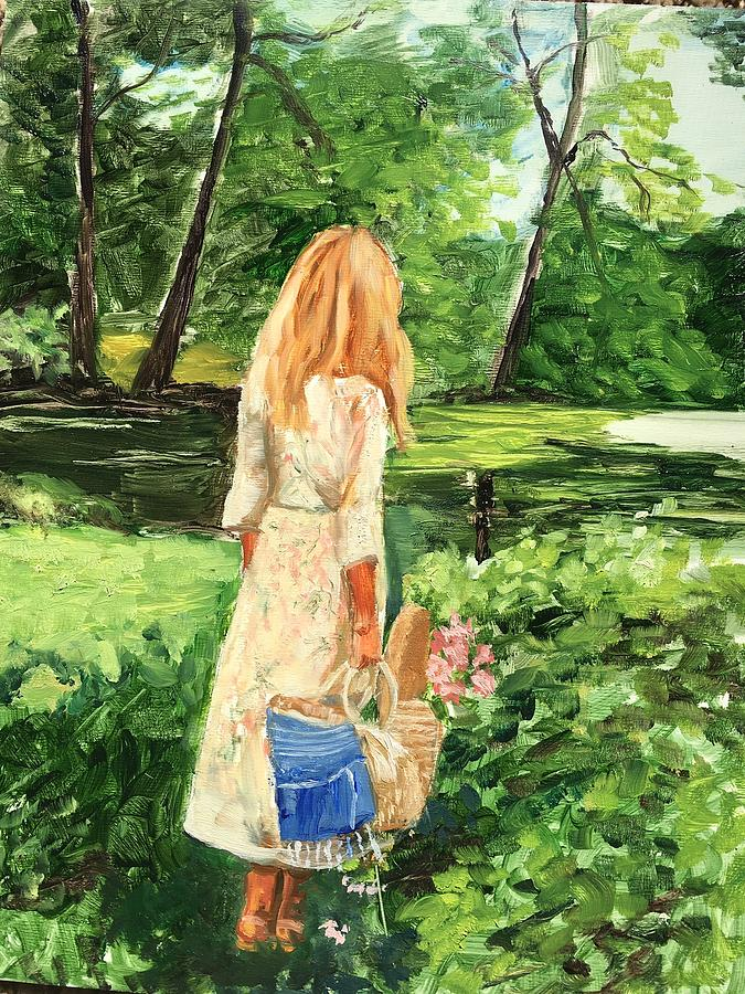 Girl Painting - The Picnic by Lynne Atwood