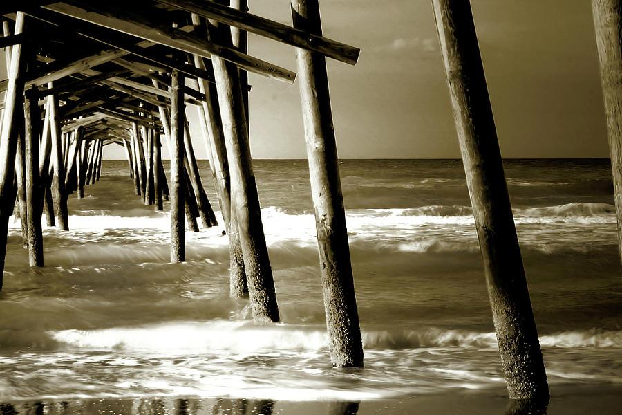 Atlantic Beach North Carolina Photograph - The Pier 2 by Alan Hausenflock