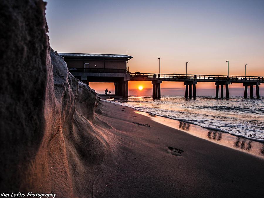 Sea Photograph - The Pier 2 by Kim Loftis