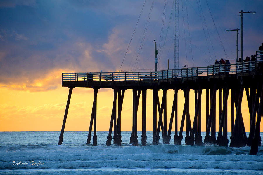 Barbara Snyder Painting - The Pier At Pismo Beach California by Barbara Snyder