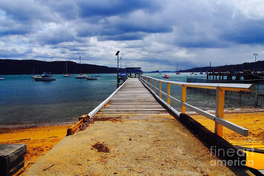 The Pier at Pittwater NSW by Ronald Rockman