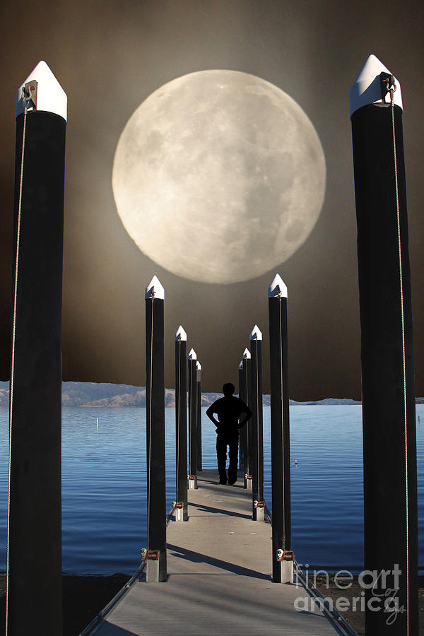 The Pier Photograph by Lozja Mattas