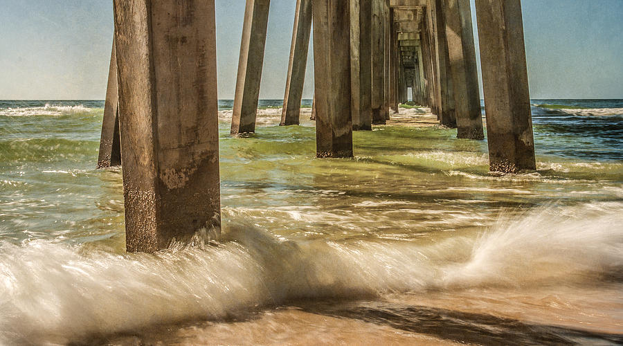 Waves Photograph - The Pier by Phillip Burrow