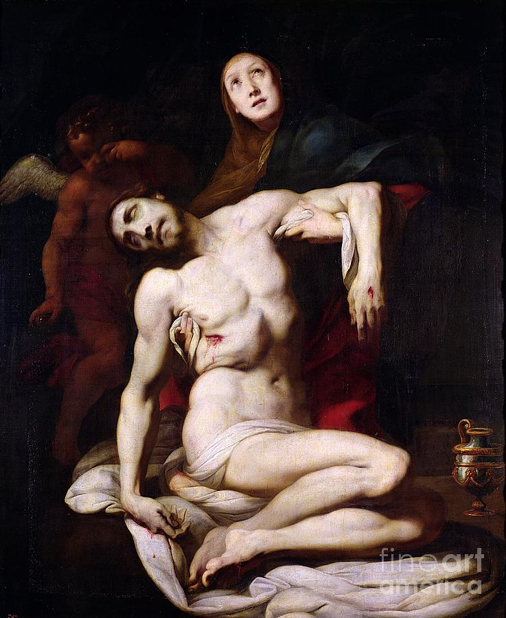Pieta Painting - The Pieta by Daniele Crespi