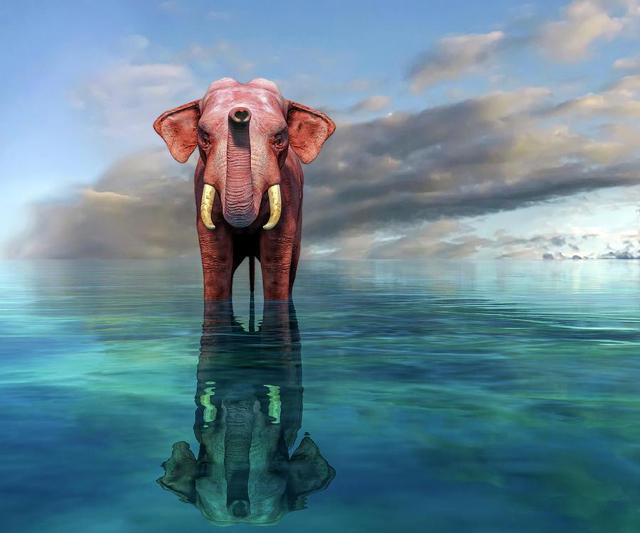 The Pink Elephant Digital Art