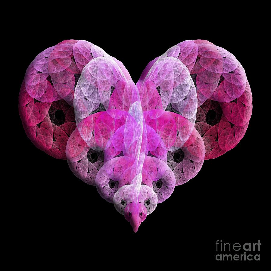 The Pink Heart Digital Art by Andee Design