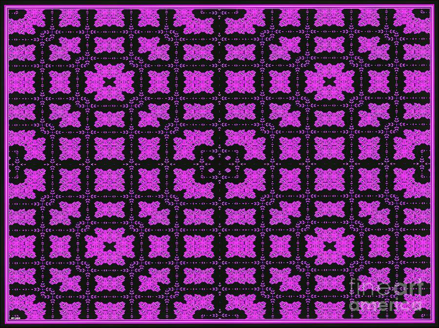 Roses Digital Art - The Pink Rose Garden by Debra Lynch