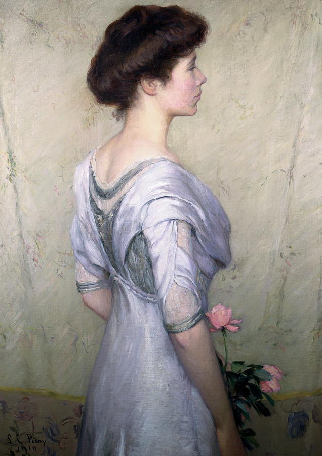 The Pink Rose Painting - The Pink Rose by Lilla Cabot Perry