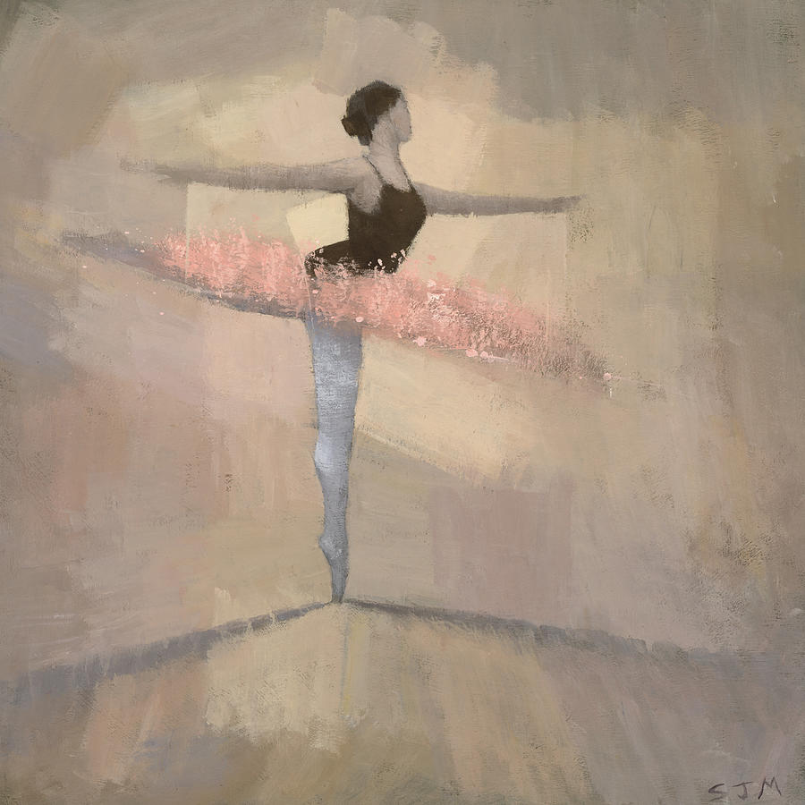 Ballerina Painting - The Pink Tutu by Steve Mitchell