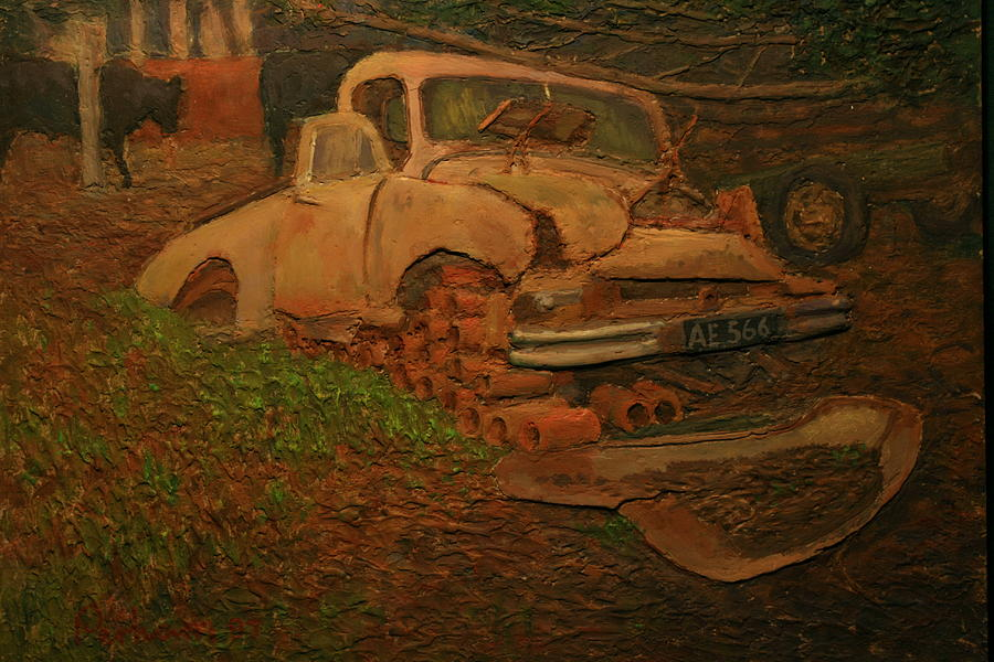 Rust Painting - The Pipe Cover by Terry Perham