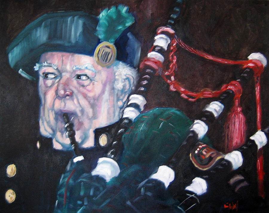 The Piper Painting by Kevin McKrell