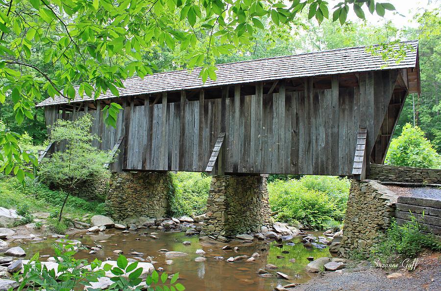 Pisgah Covered Bridge Photograph - The Pisgah Covered Bridge by Suzanne Gaff
