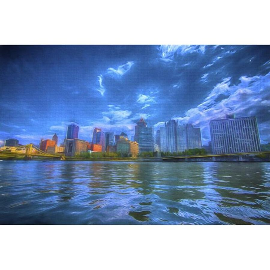 Bridge Photograph - The Pittsburgh Skyline From The Walkway by David Haskett II