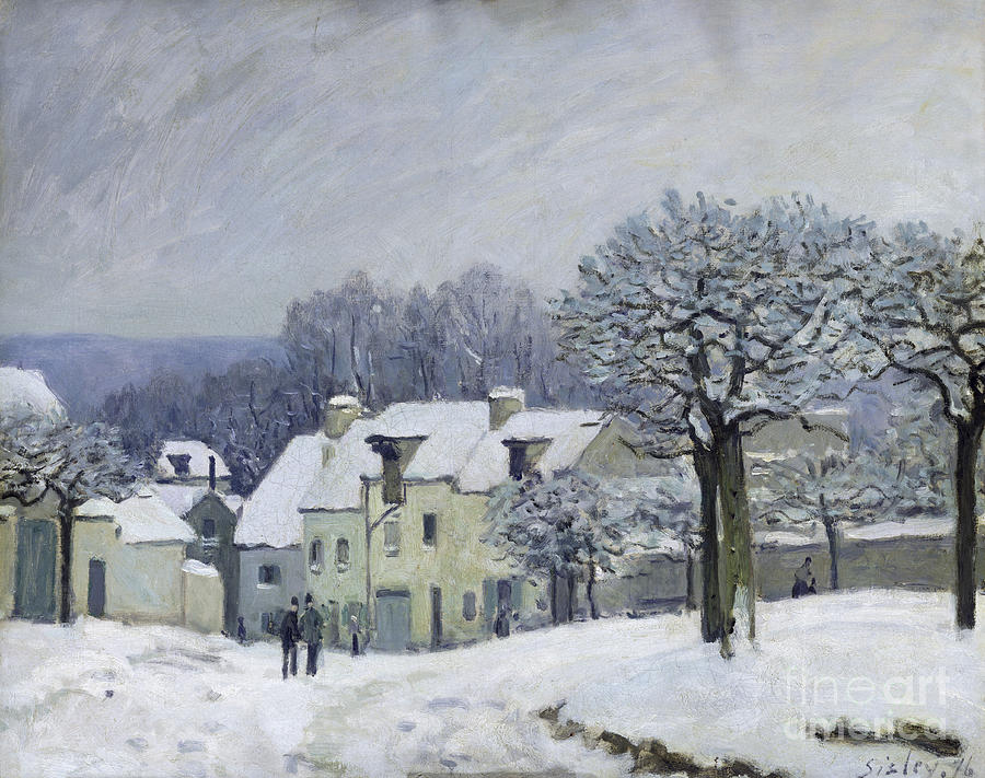 The Painting - The Place Du Chenil At Marly Le Roi by Alfred Sisley