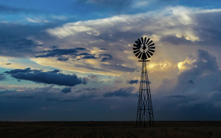 Windmill Photograph - The Plains by Jeffrey A Earl