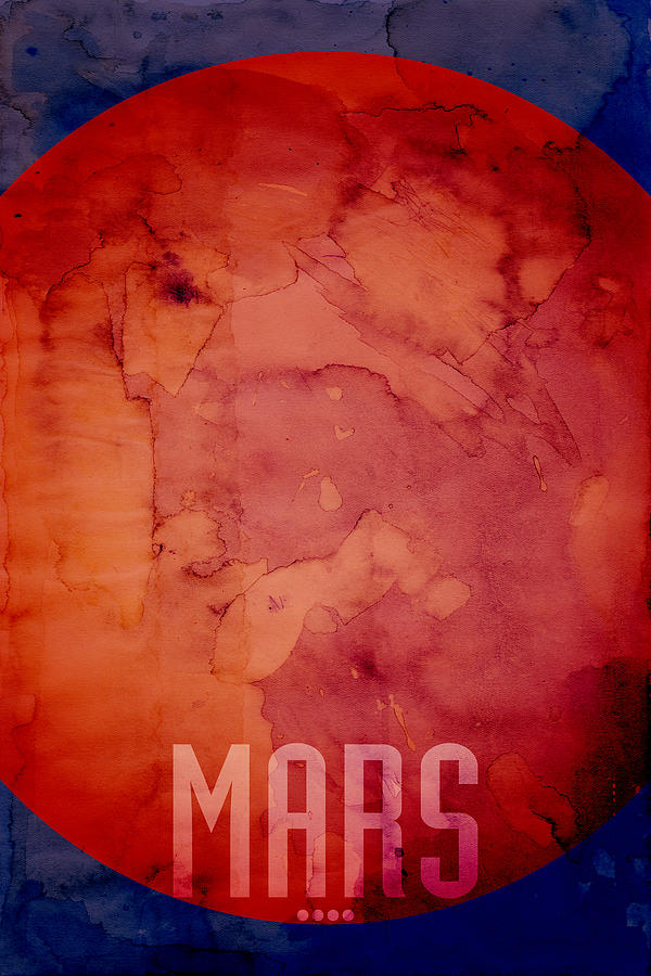 Mars Digital Art - The Planet Mars by Michael Tompsett