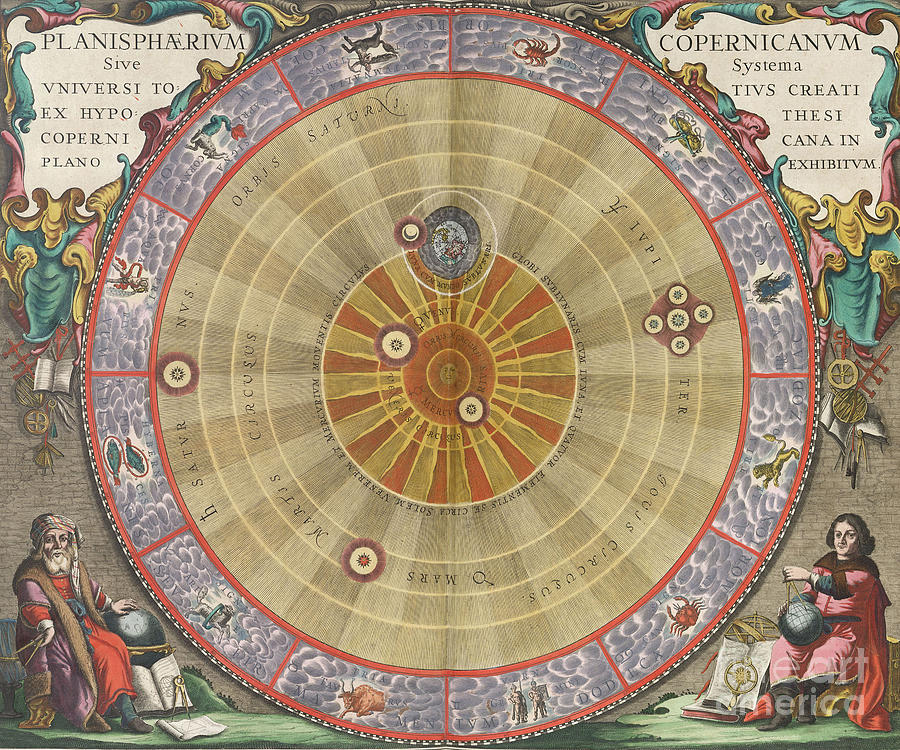 Solar System Photograph - The Planisphere Of Copernicus Harmonia by Science Source