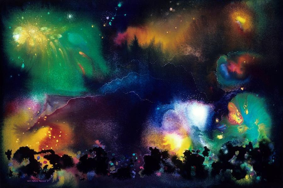 Spiritual Painting - The Plateau Of Ancient Dreams by Lee Pantas