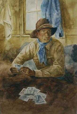 The Player Painting by Don Cull