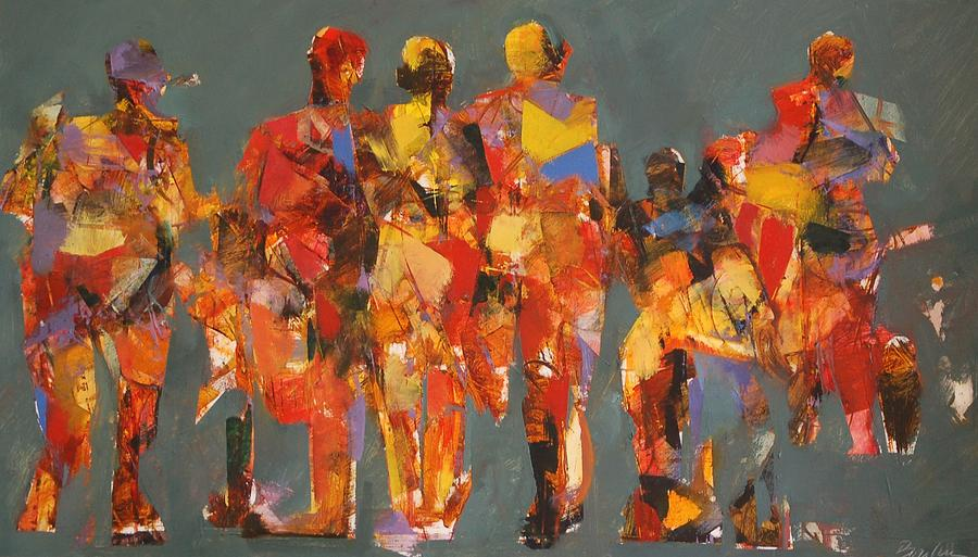 Boylan Painting - The Players by Dan  Boylan