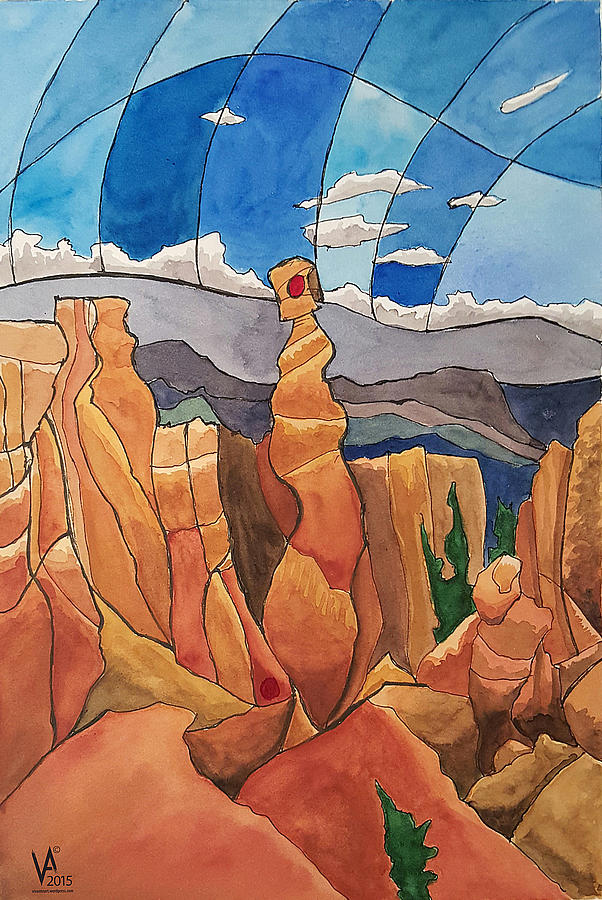 Landscape Painting - The Plinth by Piers Le Sueur