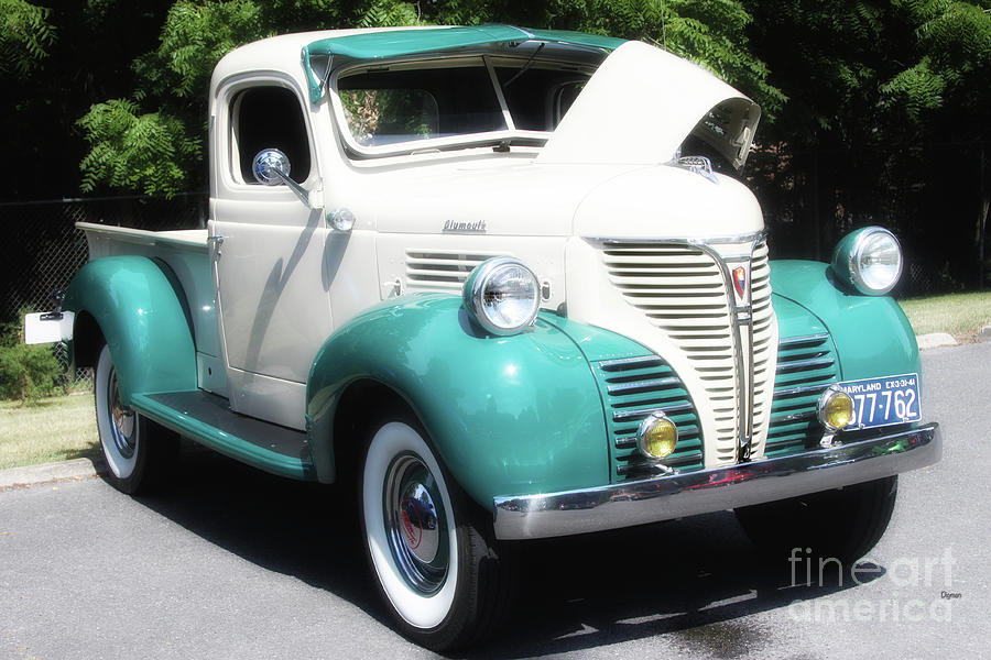 Pickup Trucks Photograph - The Plymouth 1941 by Steven Digman