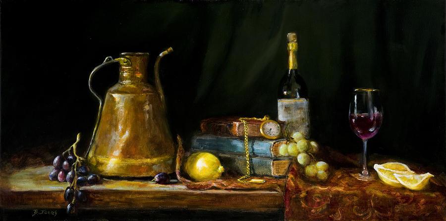 Still Life Painting - The Pocket Watch by Barbara Jones