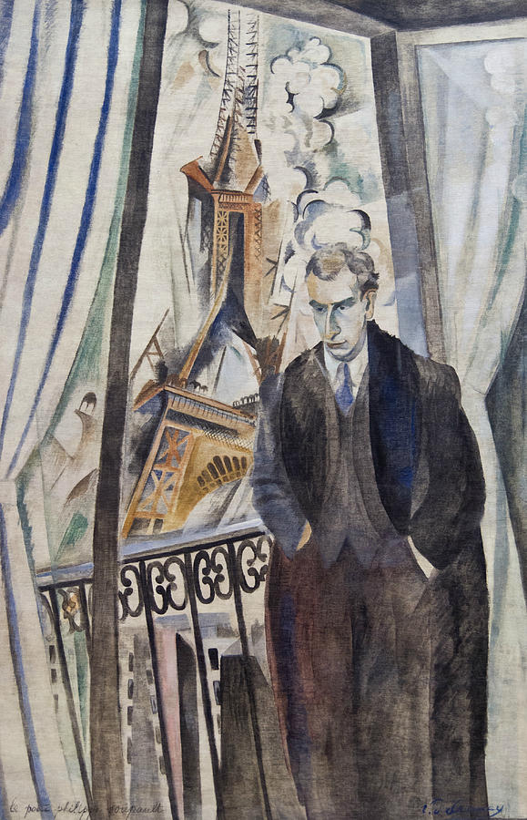 French Artist Painting - The Poet Philippe Soupault by Robert Delaunay